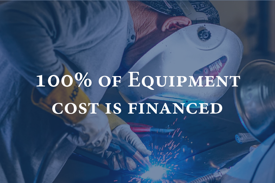 100% of Equipment Cost is Financed